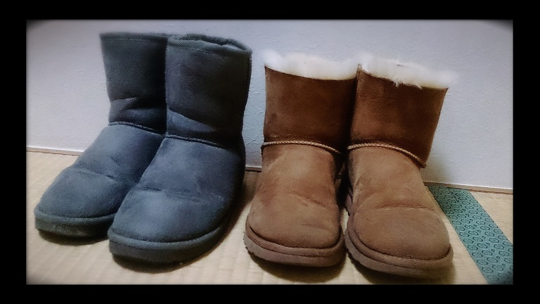 UGGとGUのブーツ比較