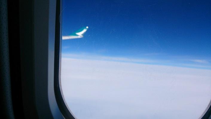飛行機 雲の上