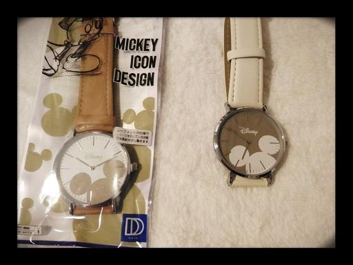 アナログ腕時計(ミッキーアイコンデザイン)©2019 スーの徒然日記